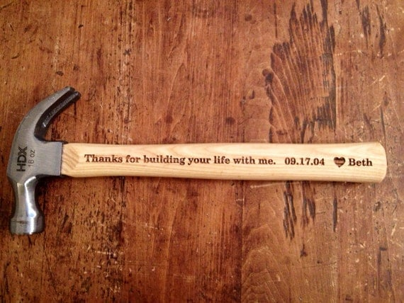 Wedding Gift Hammer : ENGRAVED HAMMER. 16 ounce, Anniversary Gift for Husband, Father of the ...