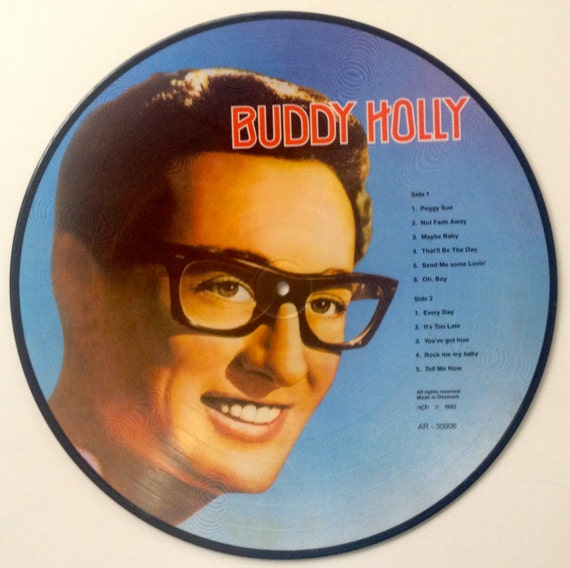 Buddy Holly Picture Disc Lp Vinyl Record Album All Round