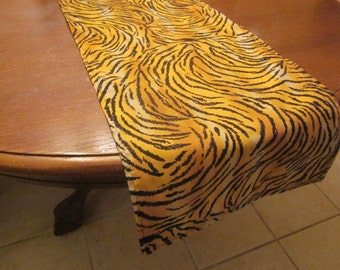 Tiger Print Table Runner, Safari Party Decorations, Baby Shower, Birthday Party, Wedding