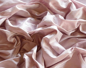 "Tea Rose Pink Dupioni Silk, 100% Silk Fabric, 44"" Wide, By The Yard (S-208)"