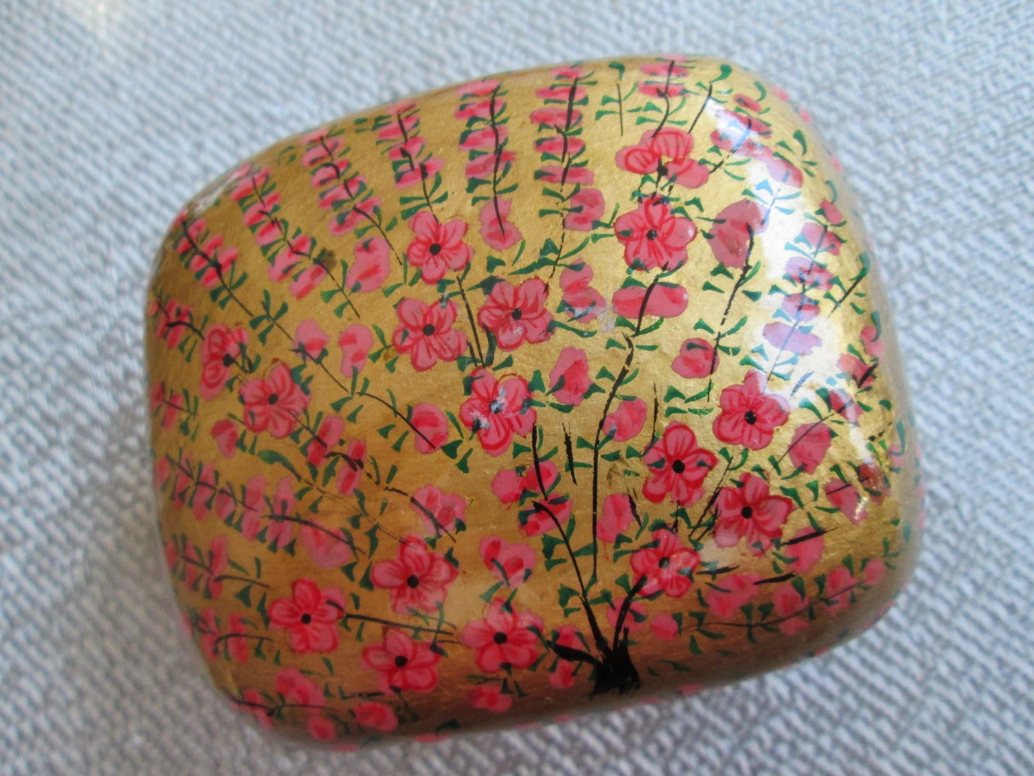 Sale Floral Lacquer Box Hand Painted Lacquer Trinket Box
