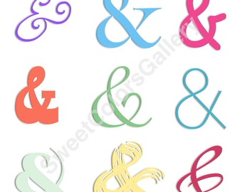 Digital PDF File. And Symbol Repeated in Different Colors