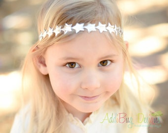 Silver Star Crown, Silver Star Halo, Baby/Toddler Silver Star Crown, Star Crown