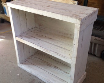 Rustic Handmade Bookcase or Media Stand from reclaimed pallet lumber.