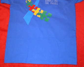 Love completes the puzzle autism shirt