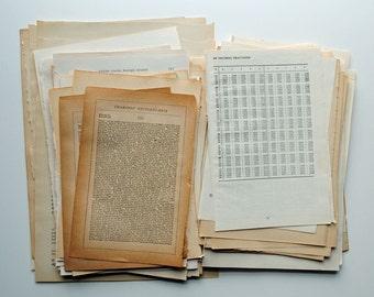 Vintage Text Pages Mixed Bag 75, ephemera