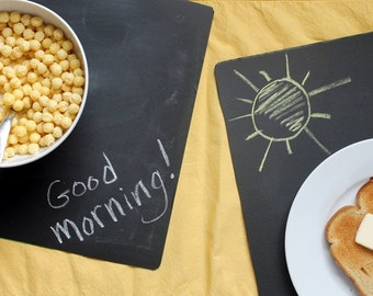 Set of 2 Chalkboard Table Place mats. Great for events, Catering, rustic country events. (CBP001)