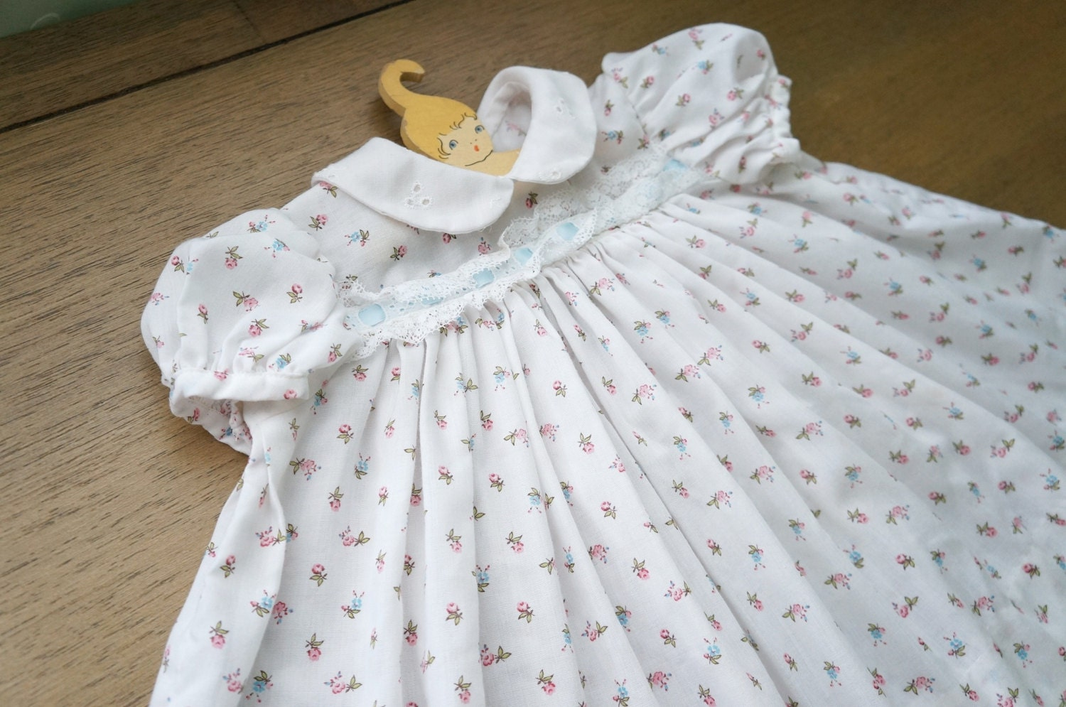 Vintage Baby Clothes Handmade Baby Girl White by