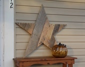 Large WOODEN STAR shaped from pallet planks rustic art Anytime Christmas home decor vintage wood