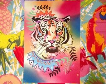 Tiger illustration, custom made