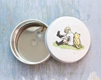 Winnie the Pooh Little Round Trinket Box - Made in England Hunky Dory Designs