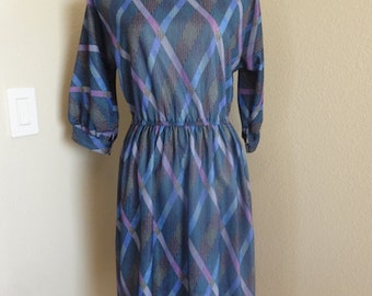 Vintage Dress Made In The 1960's In USA By 'Coras Closet' - Size 10