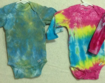 ON SALE 20% OFF!!  Hand Dyed Onesies 6-9 mo cotton in various colors & designs