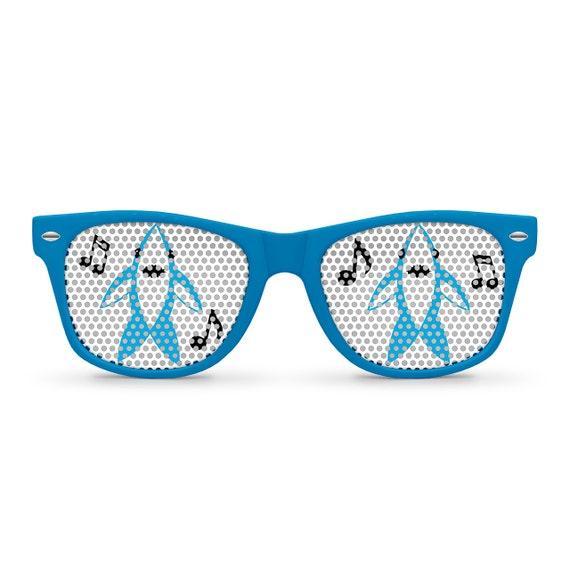Left Shark Blue Retro Party Sunglasses