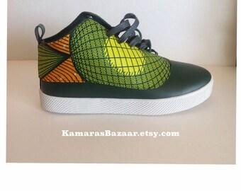 Gourmet Dieci L 11 Sneakers Hunter/White //Ankara Sneakers// Mens size 8// Green