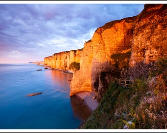 Sunset at Etretat
