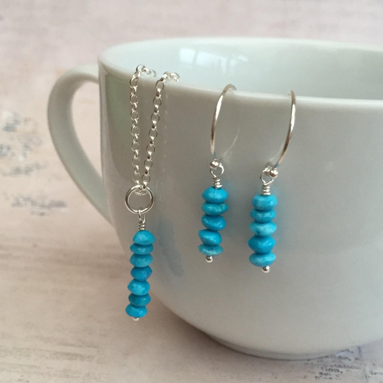december birthstone necklace earring set by daintyrocksuk. Black Bedroom Furniture Sets. Home Design Ideas