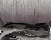 Light Silver Fold Over Elastic By the Metre