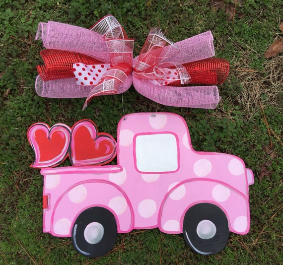 valentine door hangervalentine truck door hanger festive door decor for the month for feburary customize this truck however you like
