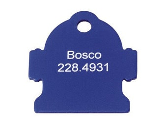 Anodized Hydrant Laser engraved Pet Tag