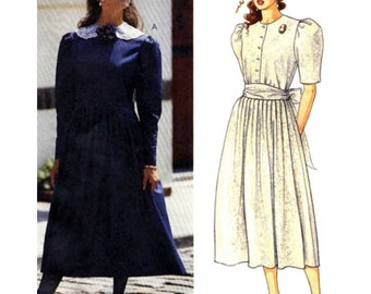 McCall's Sewing Pattern 3929 Misses' Dress and Sash by Laura Ashley Size:  14  Uncut