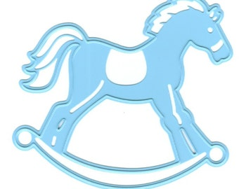 "Marianne Designs Creatables Dies LR0347 ~ Rocking horse, 2 3/4"" x 2 1/2"""