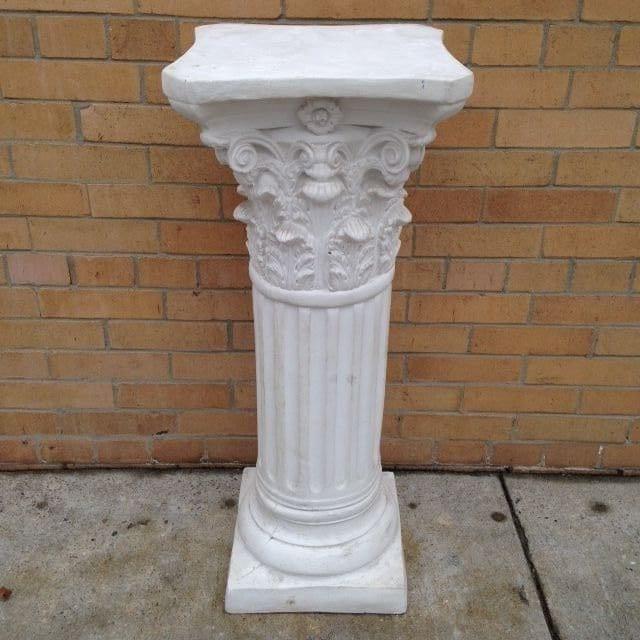Roman Corinthian Column Plant Standwhite Plaster Columnwhite