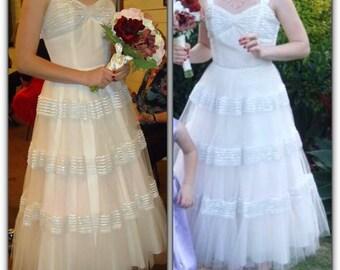 Emma Domb 50's ivory vintage dress