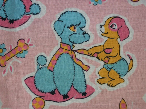vintage poodle fabric with - photo #24