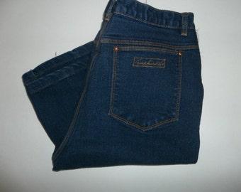 Vintage 1980's Gloria Vanderbilt Dark Denim, High Waisted Jeans