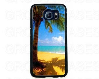 Samsung Galaxy S6 Case Rubber Tropical Beach