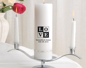 Unity Candle Set - Personalized Wedding Candle Sets - Unity Candles - GC330 T18