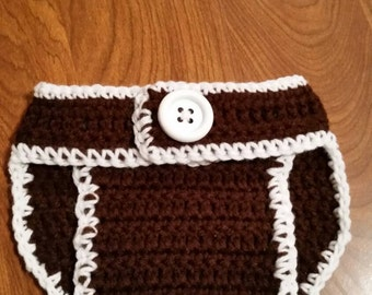 Crocheted Football Diaper Cover
