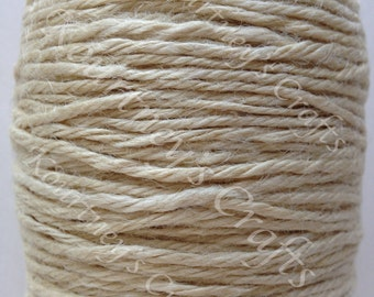 2mm Ivory Jute Twine Cord Non-Polished 2mm 100M/Roll (Approx. 109 Yard)