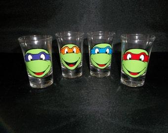 Teenage Mutant Ninja Turtle Personal Shot Glasses
