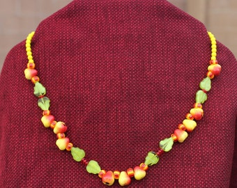 Fruit beaded necklace