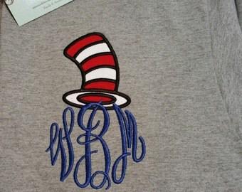 Dr Seuss themed shirt, Dr Seuss Shirt, monogrammed t-shirt