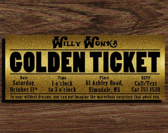 Invitation - Willy Wonka Party