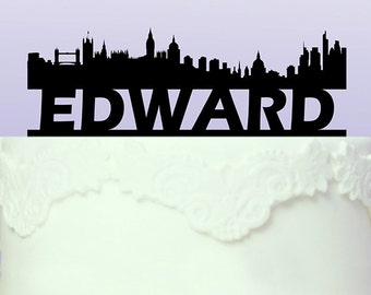 Personalised London Cityscape Cake Topper