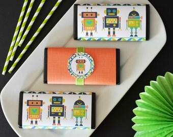 Robot Party Printable,Robot Printable, Robot Decoration,Printable