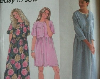 Misses Dress in Two Lengths Size 18-20-22-24 Simplicity Easy to Sew Pattern 9340 Rated Easy to Sew UNCUT Pattern Dated 1995
