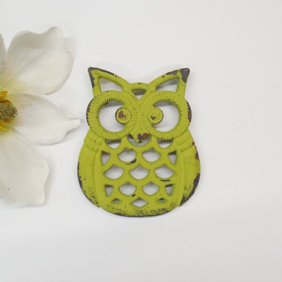 Owl trivet owl decor kitchen decor kitchen by Owl kitchen accessories
