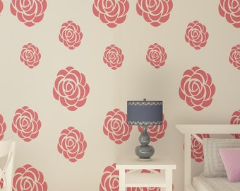 Roses Flowers Stencil for Wall Decor. Reusable Stencil.