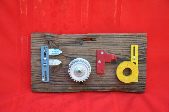 Ford Man Cave Decor : Ford sign car parts man cave funky wall art barn board