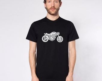 KillerBeeMoto: Limited Release MotoLady's Custom Ducati Monster Pandora Cafe Racer Motorcycle T-Shirt