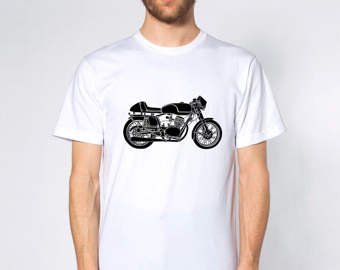 KillerBeeMoto: Limited Release Vintage Italian Cafe Racer 125CC Short And Long Sleeve Motorcycle Shirts