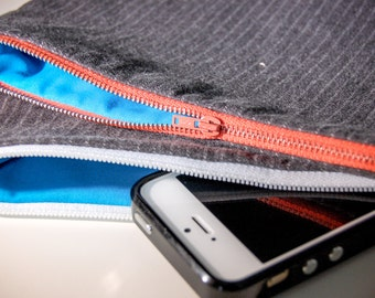 Zippered Pouch from Repurposed Trousers/Upcycled Pouch/Makeup Bag/Pencil Pouch
