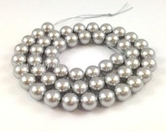 8mm LIGHT GREY 5810 Swarovski Crystal Round Pearls 20 pieces