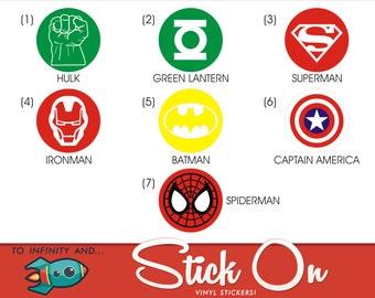 Super Hero Decals