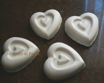 Chalk heart shaped scented